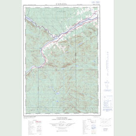 Canadian Topo Map - Connors - Map 021N02W