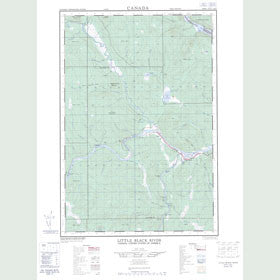 Canadian Topo Map - Little Black River - Map 021N03E