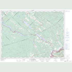 Canadian Topo Map - Lac-Baker - Map 021N07