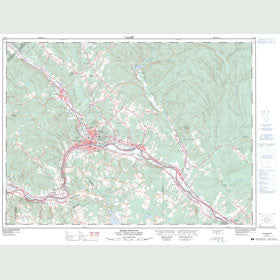 Canadian Topo Map - Edmundston - Map 021N08