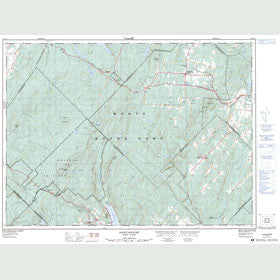 Canadian Topo Map - Saint-Honoré - Map 021N11