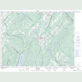 Canadian Topo Map - Squatec - Map 021N15
