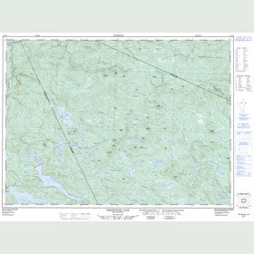 Canadian Topo Map - Serpentine Lake - Map 021O02