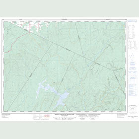 Canadian Topo Map - Sisson Branch Reservoir - Map 021O06