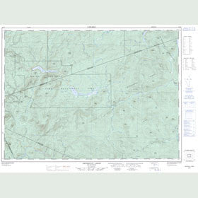 Canadian Topo Map - Nepisiguit Lakes - Map 021O07