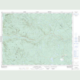 Canadian Topo Map - California Lake - Map 021O08
