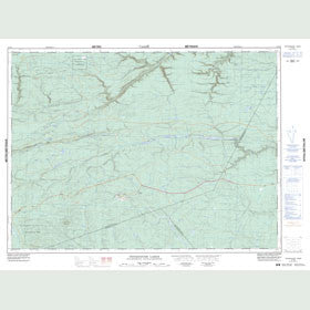 Canadian Topo Map - Camel Back Mountain - Map 021O09