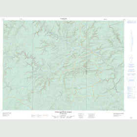 Canadian Topo Map - Upsalquitch Forks - Map 021O10