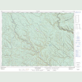 Canadian Topo Map - States Brook - Map 021O13