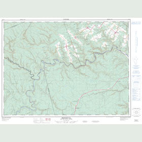 Canadian Topo Map - Menneval - Map 021O14