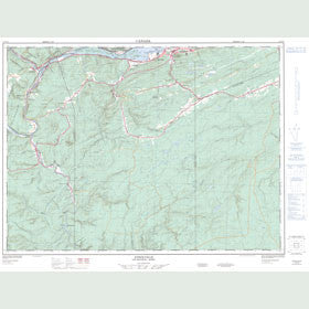 Canadian Topo Map - Atholville - Map 021O15