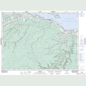 Canadian Topo Map - Charlo - Map 021O16