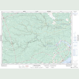 Canadian Topo Map - Tabusintac River - Map 021P06
