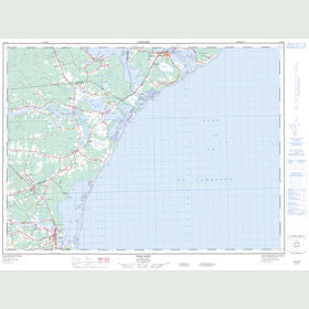 Canadian Topo Map - Tracadie - Map 021P10