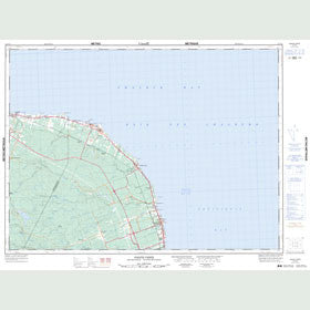 Canadian Topo Map - Pointe Verte - Map 021P13