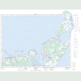 Canadian Topo Map - Caraquet - Map 021P15