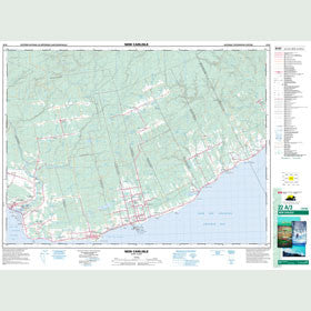Canadian Topo Map - New Carlisle - Map 022A03