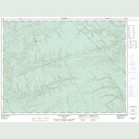 Canadian Topo Map - Rivière Reboul - Map 022A06