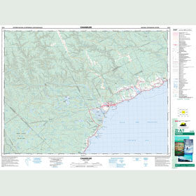 Canadian Topo Map - Chandler - Map 022A07