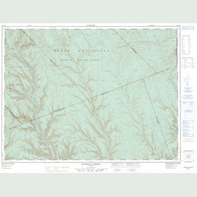 Canadian Topo Map - Ruisseau Lesseps - Map 022A12
