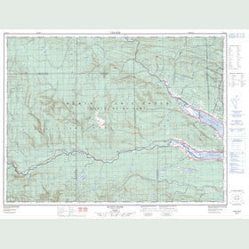 Canadian Topo Map - Sunny-Bank - Map 022A15