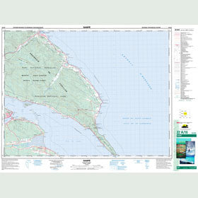 Canadian Topo Map - Gaspé - Map 022A16
