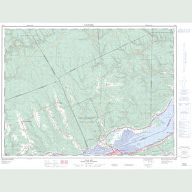 Canadian Topo Map - Oak Bay - Map 022B02