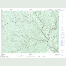 Canadian Topo Map - Milnikek - Map 022B03