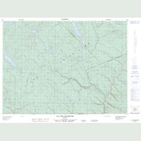Canadian Topo Map - Lac des Chasseurs - Map 022B04