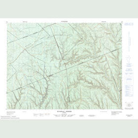 Canadian Topo Map - Ruisseau Jerôme - Map 022B07