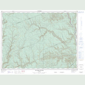 Canadian Topo Map - Rivière Angers - Map 022B08