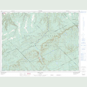 Canadian Topo Map - Mont Logan - Map 022B15