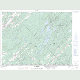 Canadian Topo Map - Lac des Baies - Map 022C02