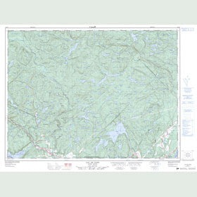 Canadian Topo Map - Lac de Pons - Map 022C05