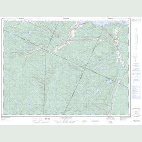 Canadian Topo Map - l'Anse-Saint-Jean - Map 022D01