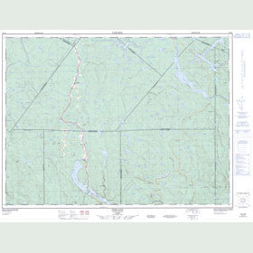 Canadian Topo Map - Ferland - Map 022D02