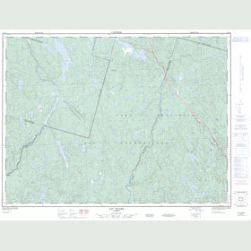 Canadian Topo Map - Lac Huard - Map 022D04