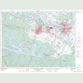 Canadian Topo Map - Jonquière - Map 022D06