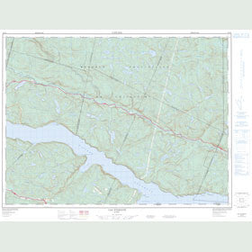 Canadian Topo Map - Cap Éternité - Map 022D08