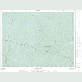 Canadian Topo Map - Lac des Savanes - Map 022D09