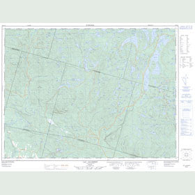 Canadian Topo Map - Lac Jalobert - Map 022D10