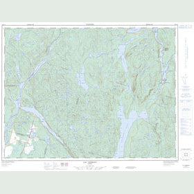 Canadian Topo Map - Lac Vermont - Map 022D14
