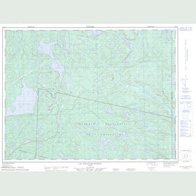Canadian Topo Map - Lac Poulin-de-Courval - Map 022D16