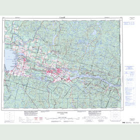 Canadian Topo Map - Chicoutimi - Map 022D