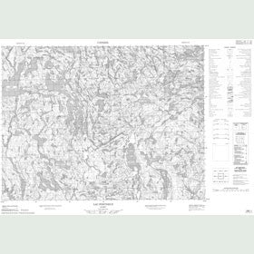 Canadian Topo Map - Lac Portneuf - Map 022E01