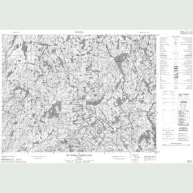 Canadian Topo Map - Lac Maria-Chapdelaine - Map 022E02