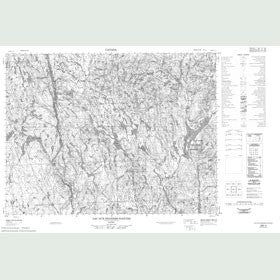 Canadian Topo Map - Lac aux Grandes Pointes - Map 022E04