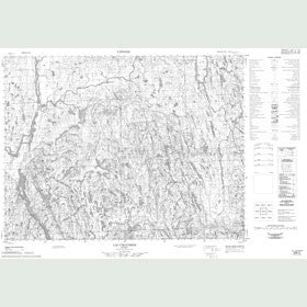 Canadian Topo Map - Lac Chausson - Map 022E05