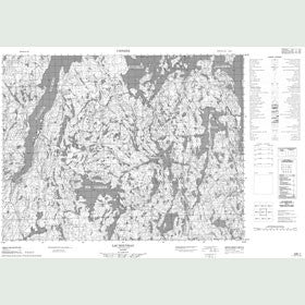 Canadian Topo Map - Lac Rouvray - Map 022E07