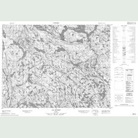 Canadian Topo Map - Lac Riverin - Map 022E08